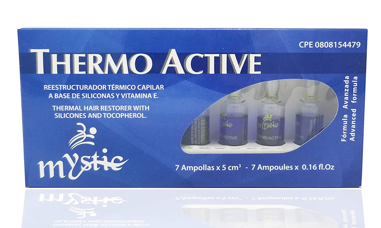 Amazon.com: Mystic Thermo Active Hair Ampoule – Thermal Hair Repair Anti-Frizz Treatment – Exceptional Shine And Softness - With Silicones and Vitamin E ...