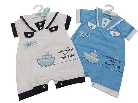 Virgin Racing Bañador para bebé ropa de con estampado de marinero Pack todo en uno de