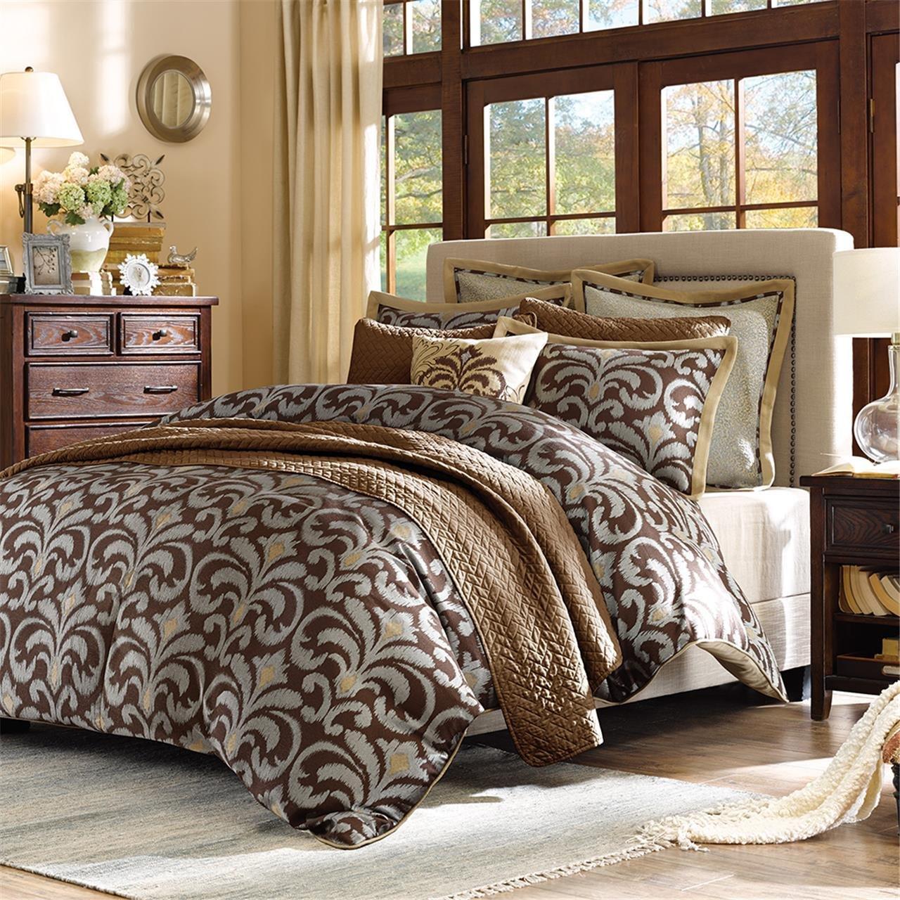 Multicolor JLA Home FB10-938 Hampton Hill Kingsley Comforter Set Full//Queen Multi