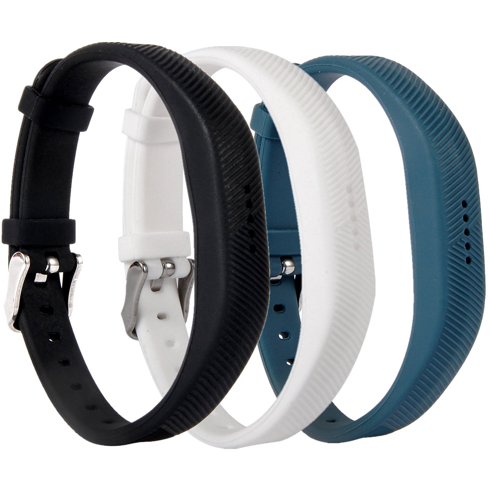 Huishang Flex 2 Accessory Bands for Fitbit Flex 2 / Fit bit flex2, With Chrome Claspor Soft Silicone Fitness Bracelet Strap, Adjustable Repalcement Wrist Band for Fitbit Flex 2 Fitness Smart Watch
