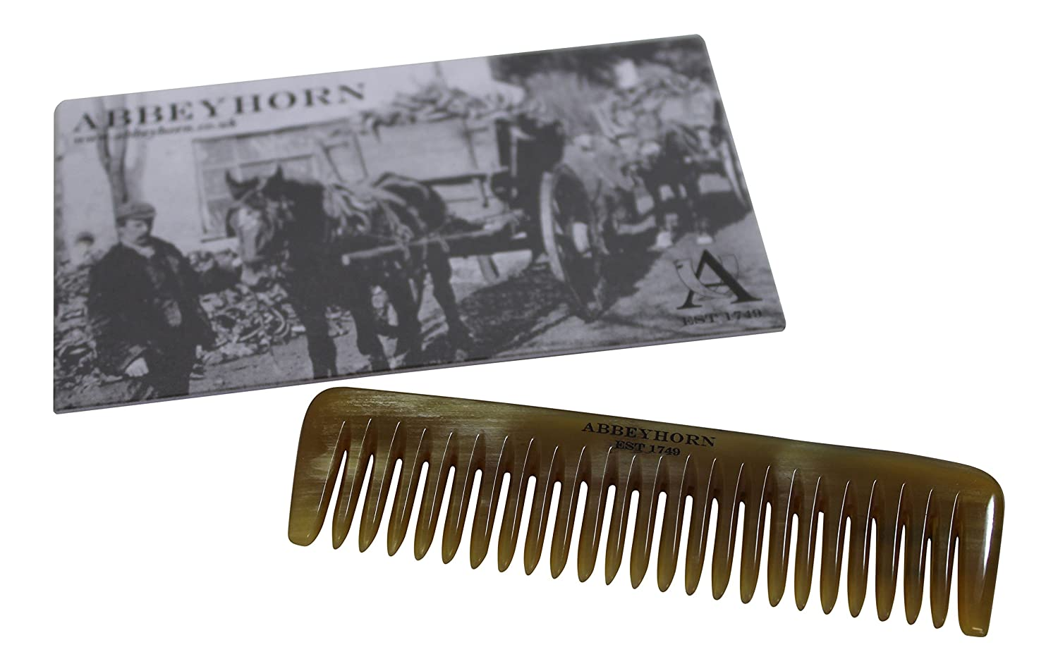 Stunning Small Polished Oxhorn Pocket Comb - Perfect for Hair or Beard Abbeyhorn