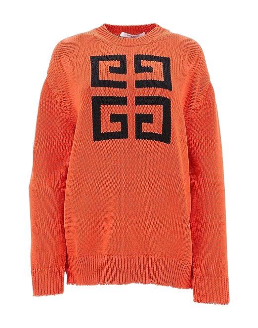 a basso prezzo f0ffb 09a53 Givenchy Maglione Donna BW903D4Z2E606 Cotone Arancione ...