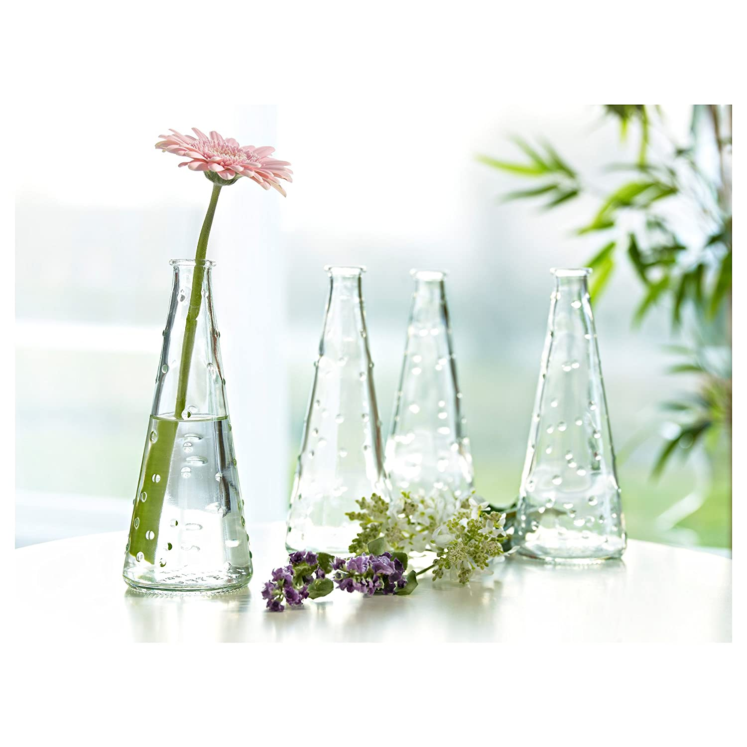 Amazon ikea clear knobby glass vase snartig x3 home kitchen reviewsmspy