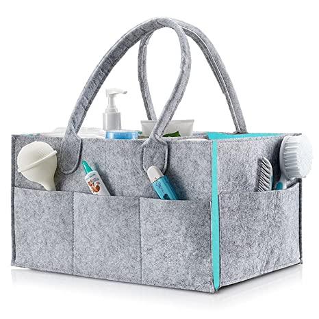 Baby Nappy Diaper Caddy Bag, Large Portable Car Travel Organizer Nursery Tote Bag Boy Girl