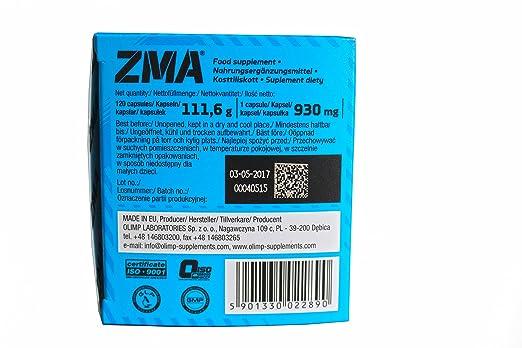 Olimp Sport Nutrition ZMA Vitaminas y Minerales - 120 Cápsulas: Amazon.es: Salud y cuidado personal