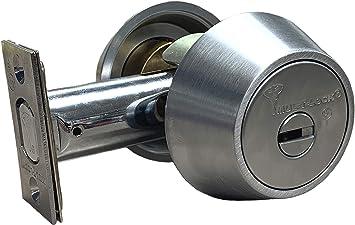 Mul T Lock Hercular Double Cylinder Deadbolt Satin Chrome