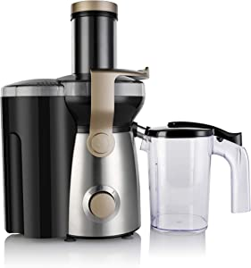 Brentwood Appliances JC-1000 2-Speed 1,000-Watt Juice Extractor with 50-Ounce Graduated Jar Other Kitchen Appliances, Normal, Black