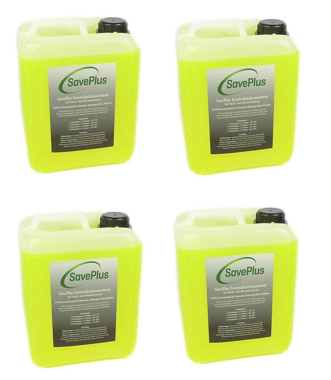 Saveplus Frostschutz Frostschutzmittel fü r Toilettensysteme Wohnmobile 4x5L = 20L Firma Saveplus