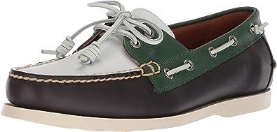 interruttore alleviare Smantellare  Polo Ralph Lauren Men's Merton Boat Shoe, Navy/White/Green, 14 D US:  Amazon.ca: Shoes & Handbags