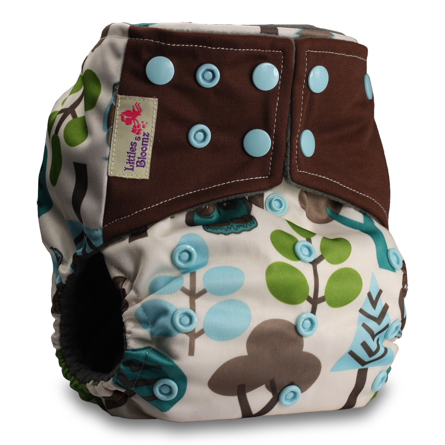 Littles /& Bloomz Pattern 13 Reusable Pocket Real Cloth Nappy Washable Diaper Bamboo Charcoal Without Insert