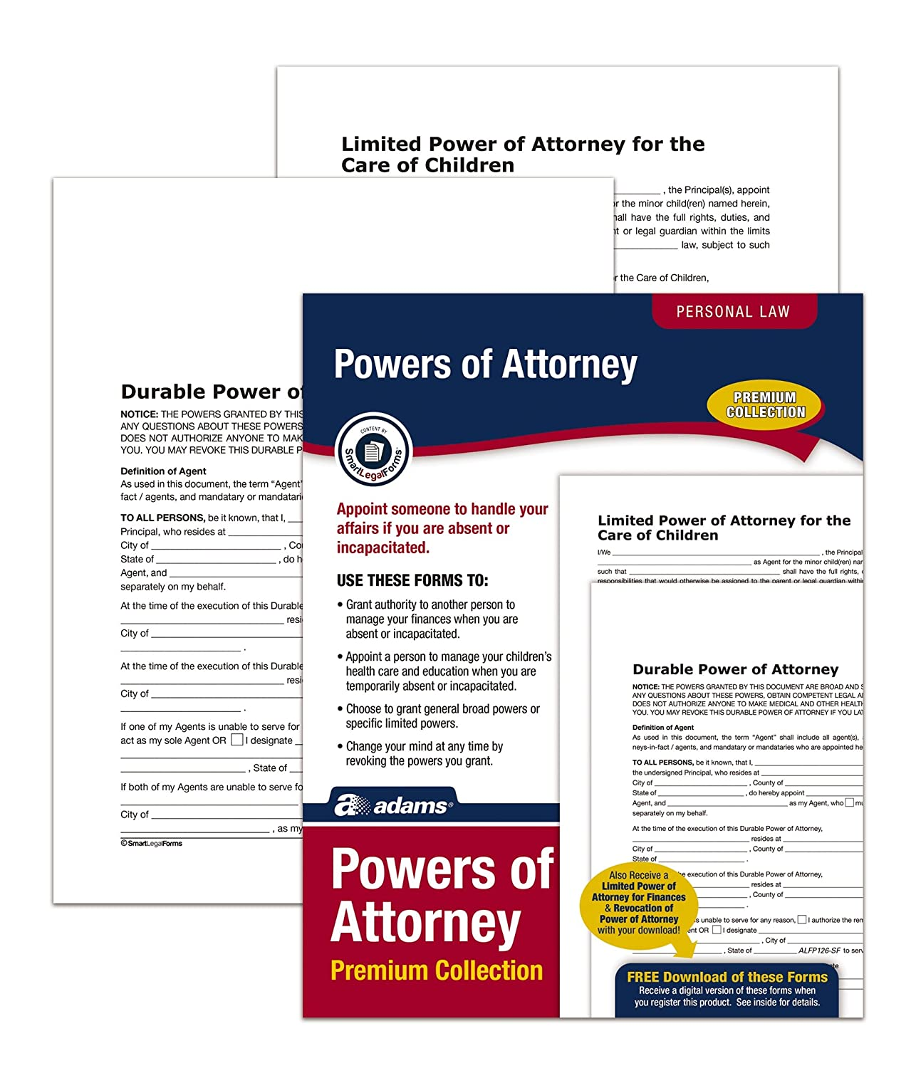 Amazon adams power of attorney forms pack includes forms amazon adams power of attorney forms pack includes forms and instructions alfp126 legal forms office products falaconquin