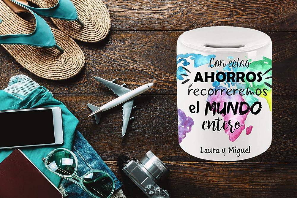 Hucha de Cerámica - Personalizada - Viaje - Viajeros ...