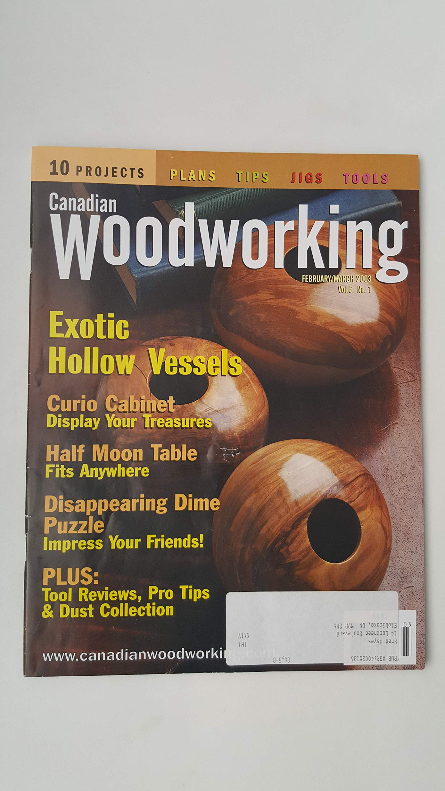 Canadian Woodworking Magazine February March 2003 Paul
