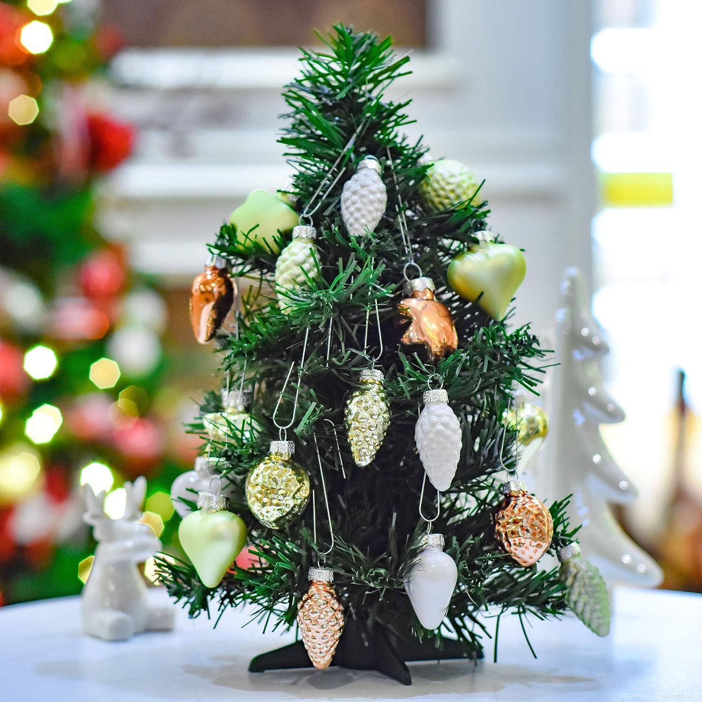 3174fc65fff Valery Madelyn 30 Piezas 20 mm Bolas de Navidad Cristal Adornos para árbol  de Navidad