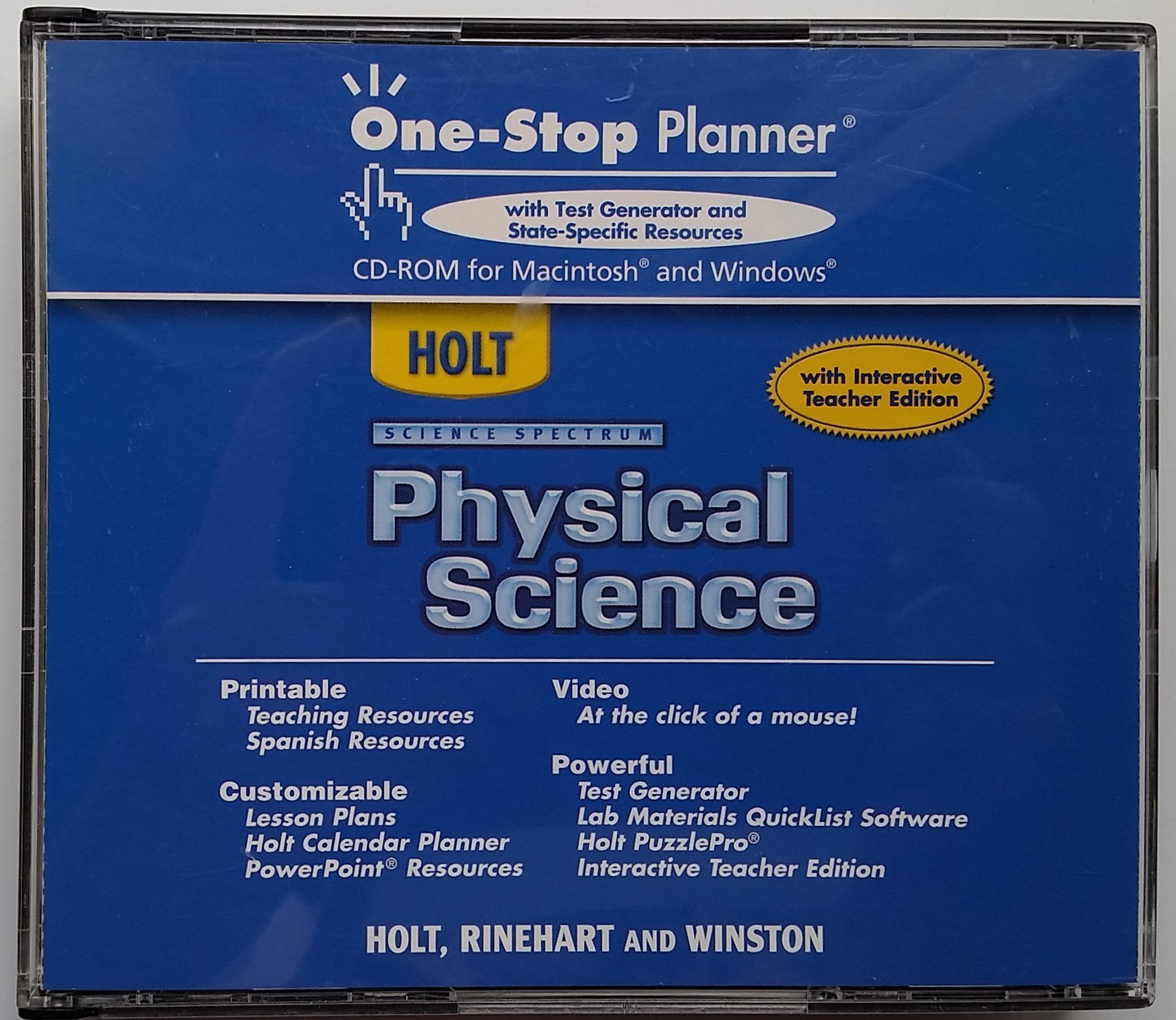 Buy Physical Science: One-stop Planner With Test Generator