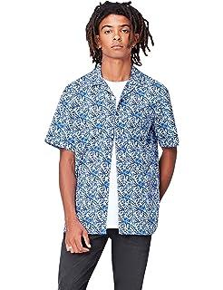 Marca Amazon - find. Short Sleeve Linen - Camisa Hombre: Amazon.es: Ropa y accesorios