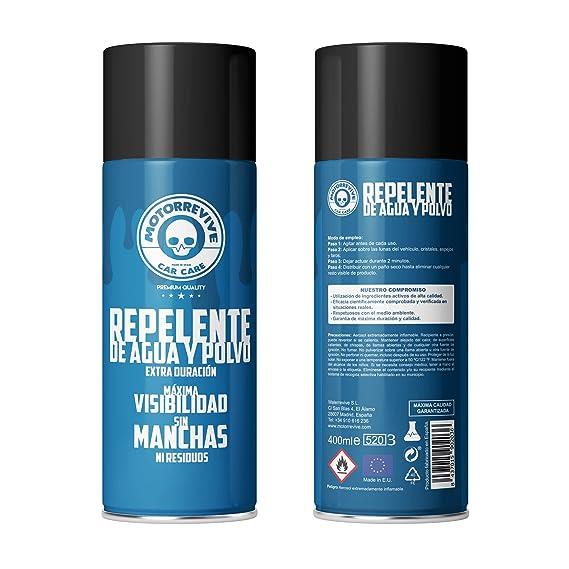 Motorrevive - Repelente de Agua y Polvo para Coche, Antilluvia - 400 ml