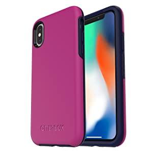 OtterBox SYMMETRY SERIES Case for iPhone Xs & iPhone X - Retail Packaging - MIX BERRY JAM (BATON ROUGE/MARITIME BLUE)