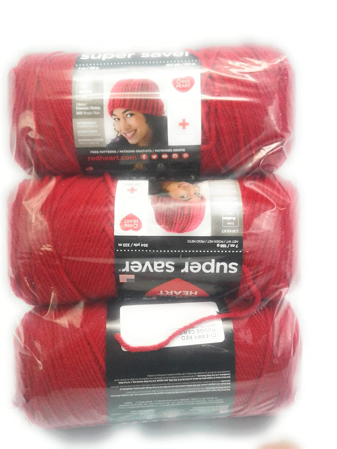 "Set Of 3/"" /""Red Heart Super Saver Yarn-Orchid"