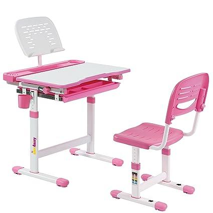 Brilliant Alex Daisy Pluto Kids Height Adjustable Study Table Chair Set Pink Forskolin Free Trial Chair Design Images Forskolin Free Trialorg