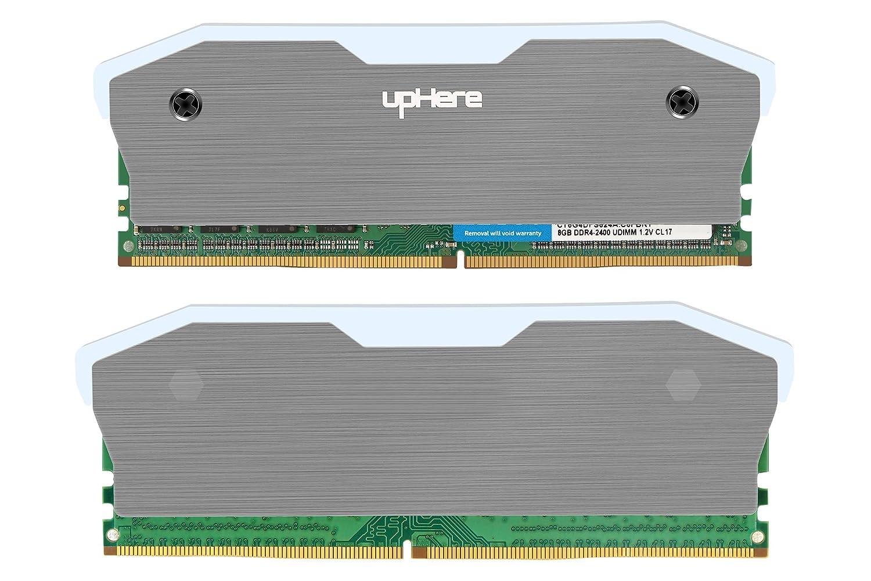 MCG6-2 Memory RAM Grey Cooler Heat Sink Cooling Vest Fin Radiation Dissipate for DIY PC Game Overclocking MOD DDR DDR3 DDR4,2-Pack