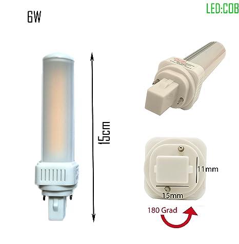 LED G24d-1 pl c pin2 Bombilla PL de c 4000 K 6 W universal