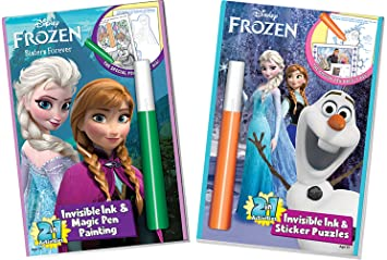 disneys frozen invisible ink sticker puzzles coloring book 2 rh amazon ca Yes Know Invisible Ink Books Hannah Montana Invisible Ink Book