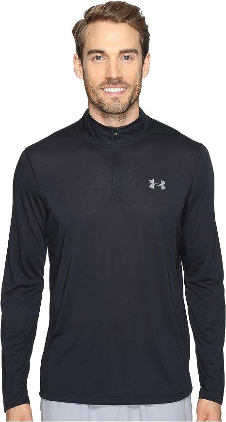 Under Armour UA threadborne Homme Bleu Sans Couture Sports Training 1//4 Zip Top