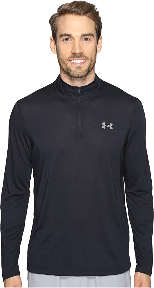 Under Armour ColdGear Threadborne 1//4 Zip Laufsshirt Herren Rot NEU