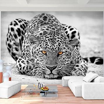Fototapeten Leopard 352 x 250 cm Vlies Wand Tapete Wohnzimmer ...