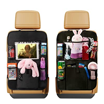 "AIBEIS Car Seat Organizer Kick Mats, Car Seat Back Protectors with Clear 10"" Tablet Holder + 5 Storage Pockets Back seat Organizer for Kids Toy Bottle Drink Vehicles Travel Accessories: Baby"