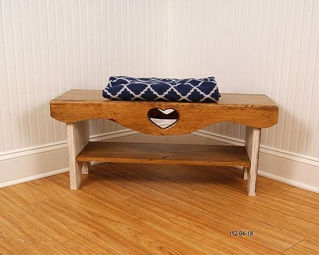 Amazon Com Bedroom Bench 3 Bench With Shelf Farmhouse Bench