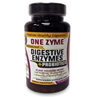 OneZyme - Best Digestive Enzyme Supplements Probiotics - Plant Based and Dairy Free & Gluten Free. Great enzymes for Digestion - Serving 3 Times Daily - 90 Capsules