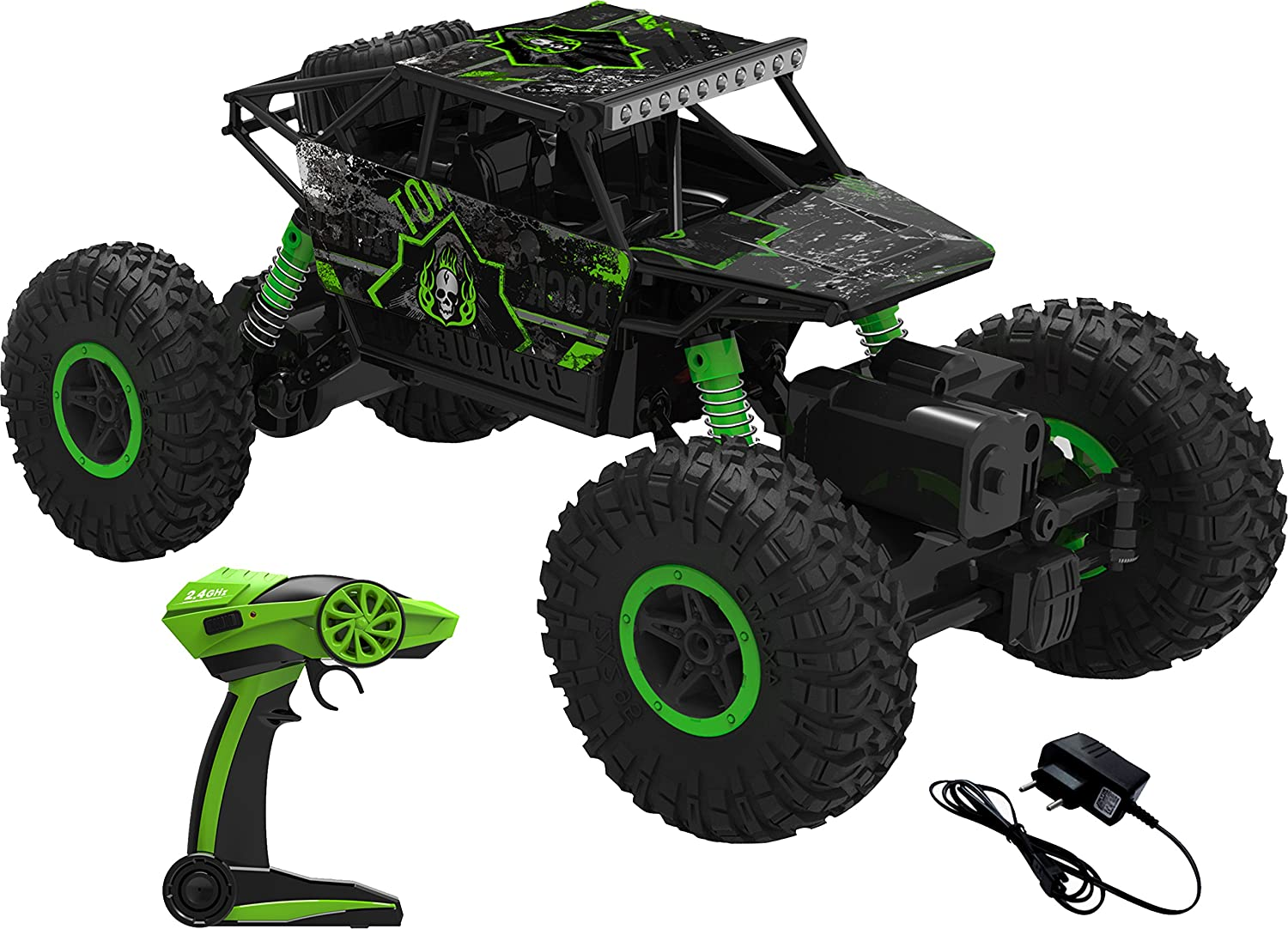 Buy Webby Remote Controlled Rock Crawler Monster Truck, Green ... on rc monster cars, rc remote control monster truck, rc monster truck wheels, rc monster vans, rc monster truck parts, rc trucks 4 sale, rc monster semi truck, rc monster truck tires, rc scale monster truck,
