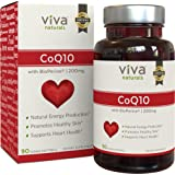 Viva Naturals CoQ10 200mg, 90 Vegetarian Softgels - Enhanced with BioPerine® for Increased Absorption