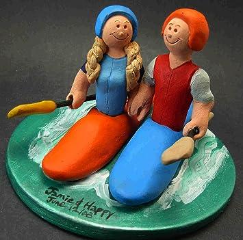 Canoe Et Kayak Decorations Pour Gateau De Mariage Amazon Fr