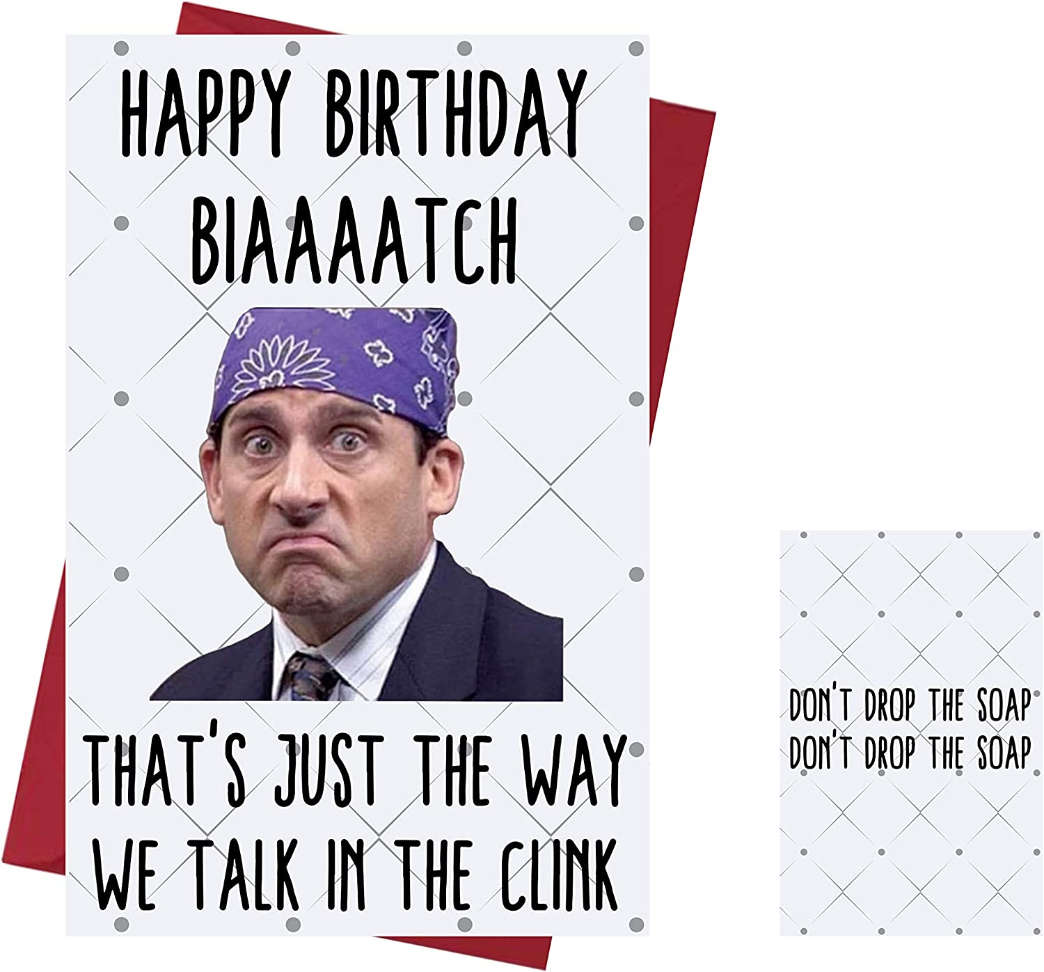 Funny Birthday Card The Office US – Prison Mike – Birthday Card Michael Scott – The Office TV Series – For Friends, Family, Lover, Etc. Who Love The Office TV Series- Birthday Card Prison Mike