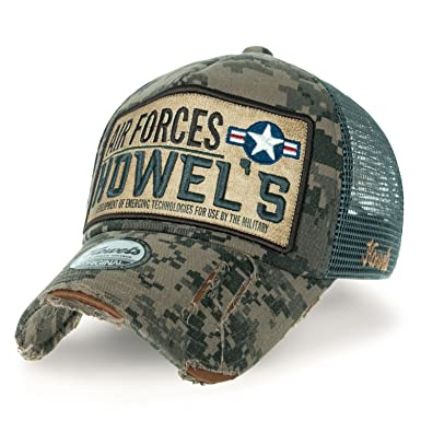 18133d1b ililily Howels Camouflage Distressed Baseball Cap Air Forces Mesh Trucker  Hat, Jungle: Amazon.co.uk: Clothing