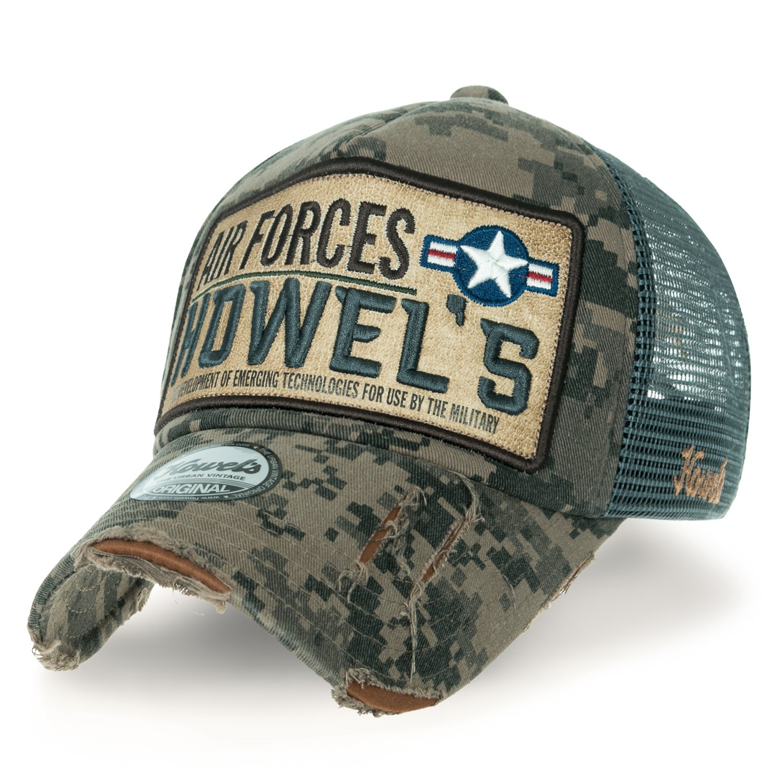 d7d47de7 ililily Howels Camouflage Distressed Baseball Cap Air Forces Mesh Trucker  Hat, Jungle