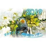オカメインコ鳥写真カレンダー2019 (A5サイズ。ワンタッチで卓上にも壁掛けにもなる3Wayカレンダー)