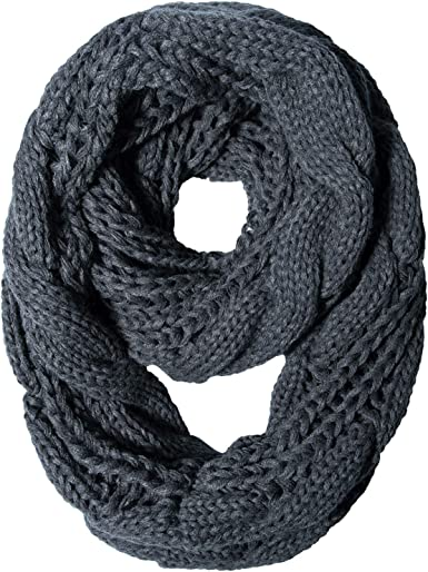 Circle Winter Scarf Solid Color Thick Cowl Loop Wrap Women/'s Knit Infinity Scarf
