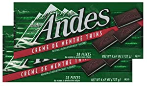 Andes Creme De Menthe Thins - 28 Pieces (Pack of 2)