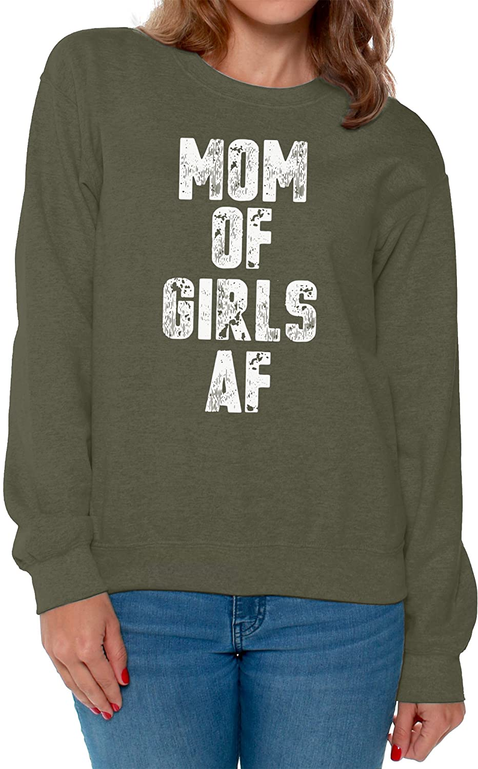 Awkward Styles Womens Mom of Girls AF Sweatshirt Crewneck Mom of Girls Gifts for Mothers Day
