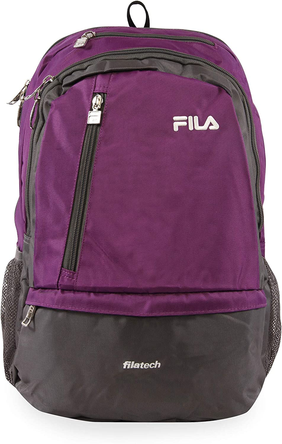 Fila Duel Tablet and Laptop Backpack, Purple, One Size