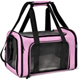 Henkelion Cat Carriers Dog Carrier Pet Carrier for Small Medium Cats Dogs Puppies up to 15 Lbs, TSA Airline Approved…