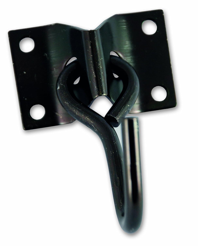 Durchmesser 7 mm Schwarz Chapuis 8927ZN Beweglicher Haken Grundplatte Verzinkter Stahl Grundplatte 70 x 45 mm
