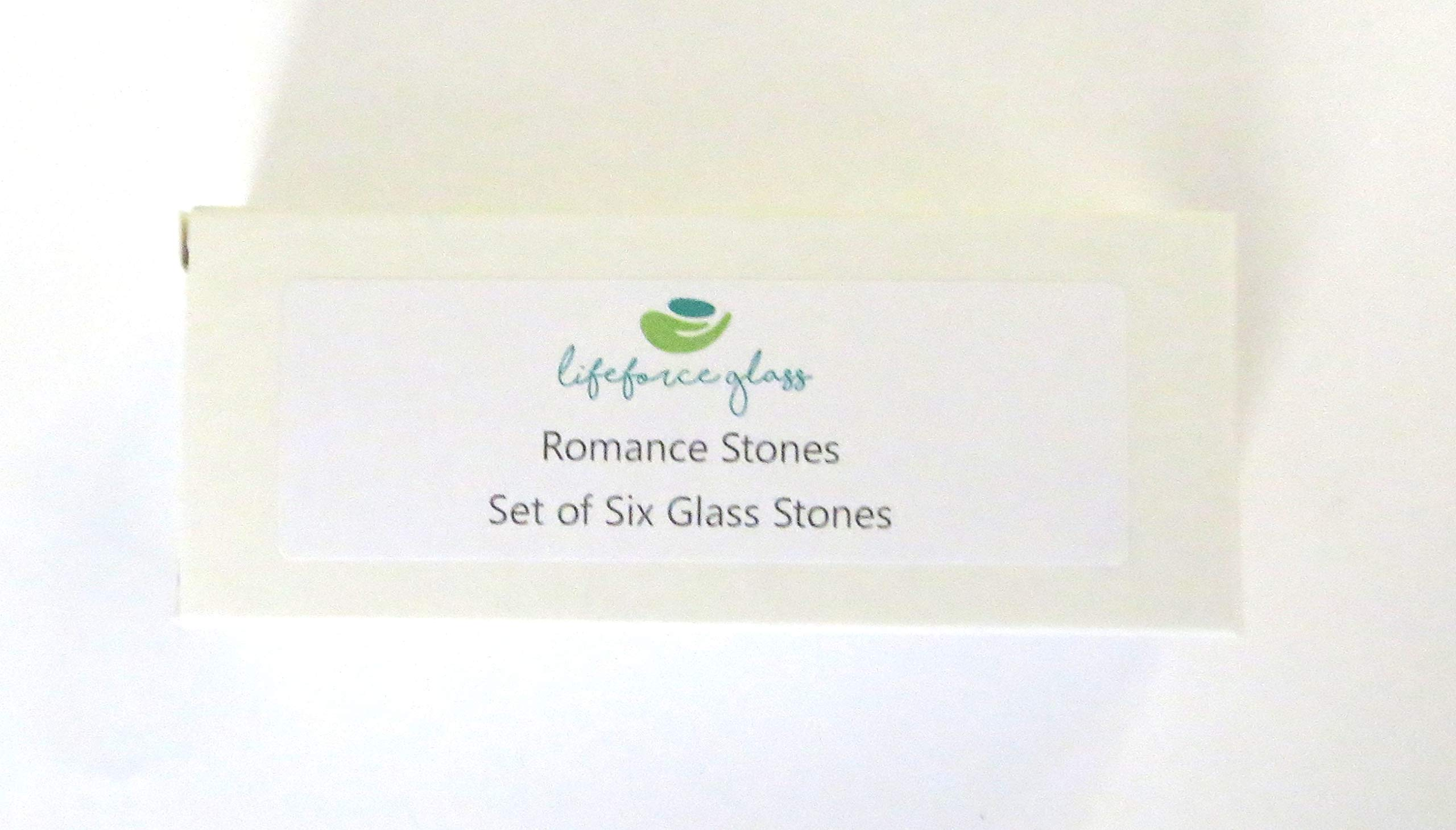Romance Glass Stones, Messages of Love and Affection For Your Beloved. Set of Six, by Lifeforce Glass. by Lifeforce Glass (Image #2)