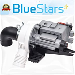 Ultra Durable W10536347 Washer Drain Pump Replacement part by Blue Stars- Exact Fit for Whirlpool Kenmore Maytag Washer- Replaces 2392433 8542672 AP5650269
