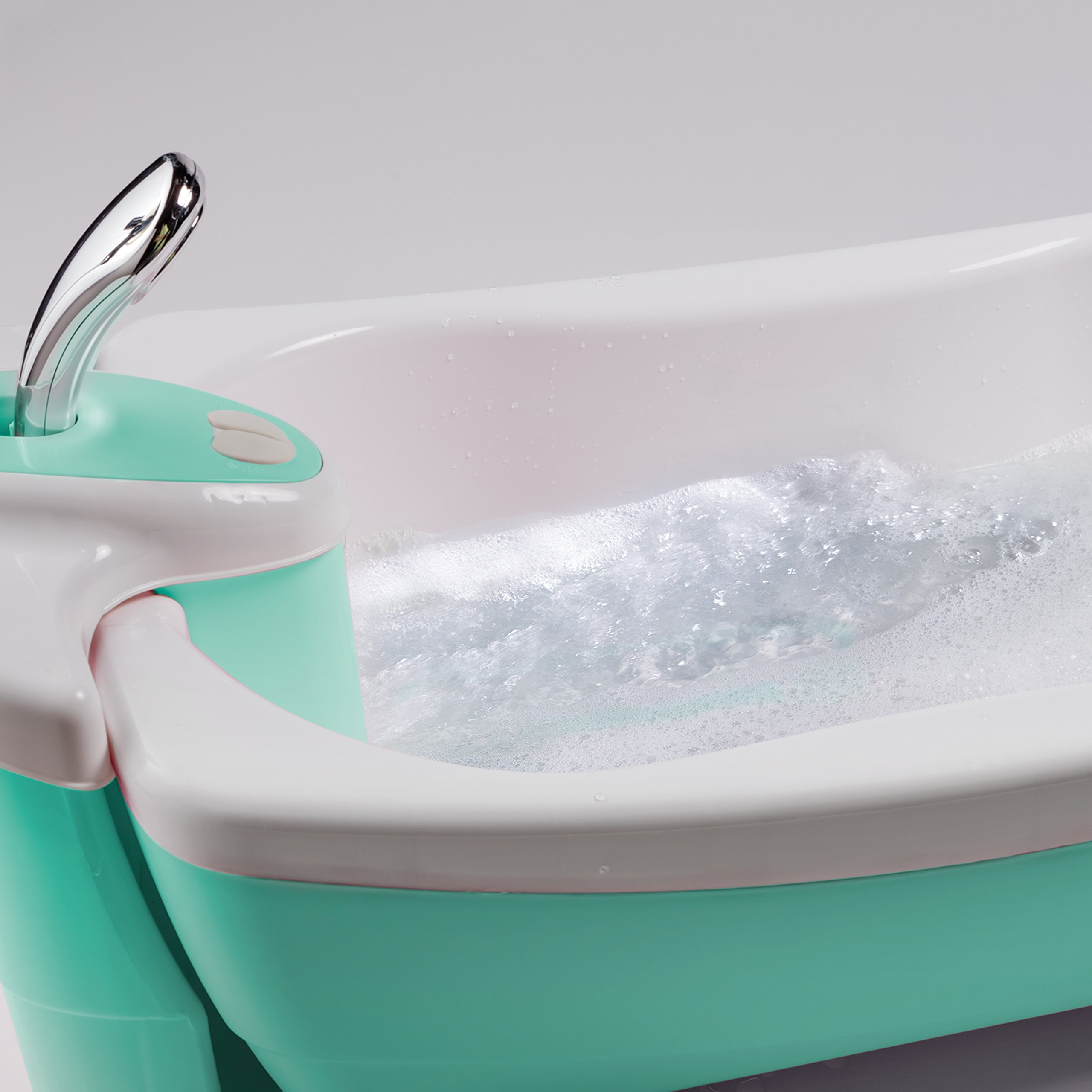 Summer Infant Lil Luxuries Whirlpool Bubbling Spa & Shower Bath Tub, Aqua by Summer Infant (Image #3)