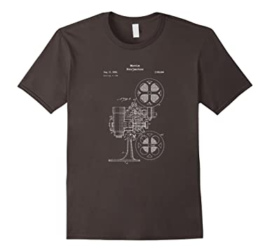 Amazon vintage movie projector blueprint shirt film cinema mens vintage movie projector blueprint shirt film cinema video 2xl asphalt malvernweather Image collections